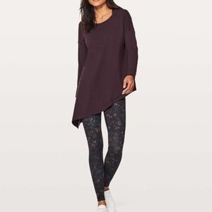 Lululemon To The Point Long Sleeve in Black Cherry